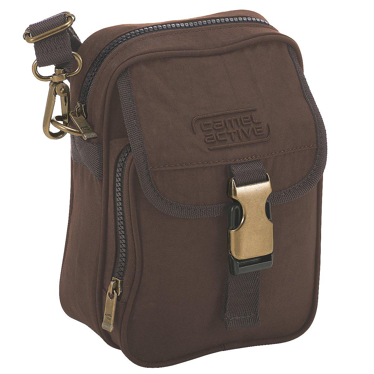 Artikel klicken und genauer betrachten! - ber der Schulter tragbar - Am Gürtel tragbar - Außentasche(n) - Nylon - Braun - Beige - Schwarz - | im Online Shop kaufen