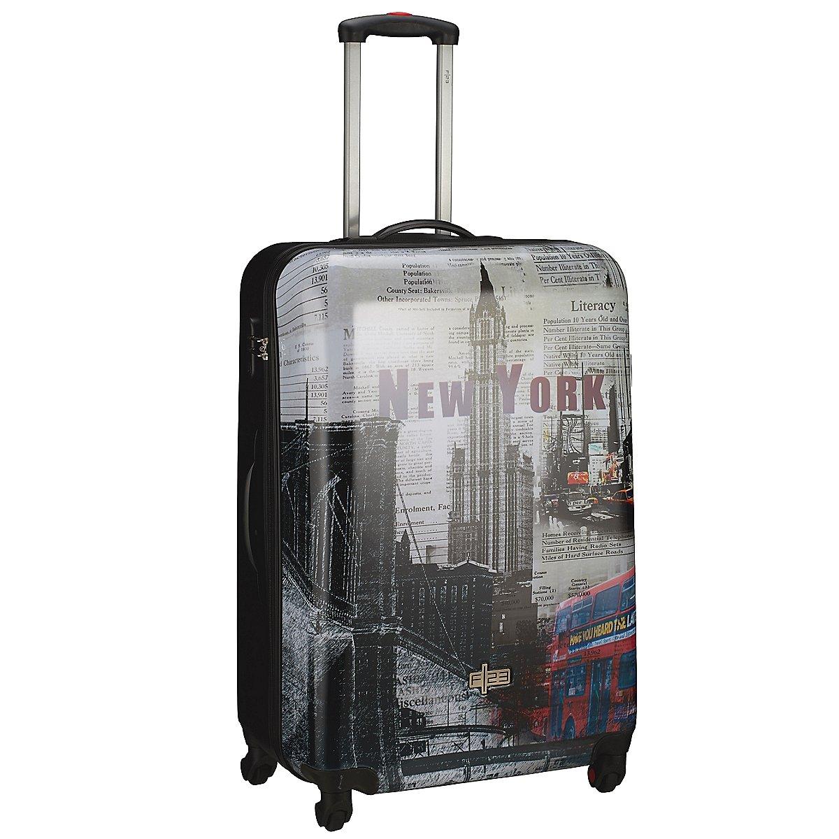 f23 travel metropol 4 rollen trolley 64 cm koffer. Black Bedroom Furniture Sets. Home Design Ideas
