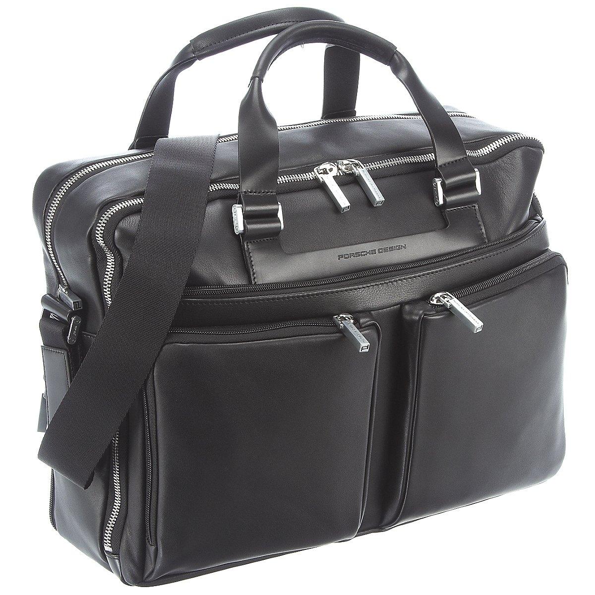 porsche design shyrt leather briefbag lh aktentasche 40 cm. Black Bedroom Furniture Sets. Home Design Ideas