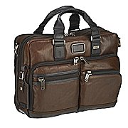 Tumi Alpha Bravo Leather Andersen Aktentasche mit Laptopfach 37 cm
