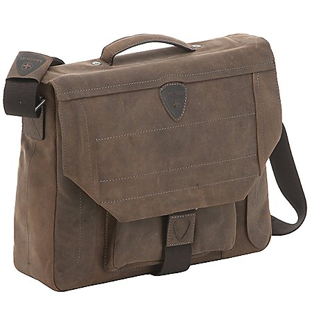 Strellson Hunter BriefBag M Aktentasche mit Laptopfach aus Leder 40 cm