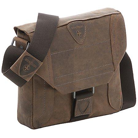 Strellson Hunter Messenger SV kleine Umhängetasche aus Leder 25 cm