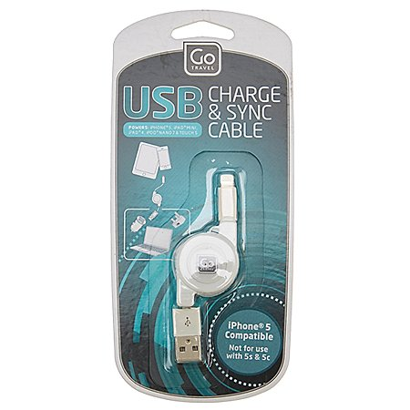 Design Go Reisezubehör Aufrollbares USB Ladekabel für iPhone, iPad