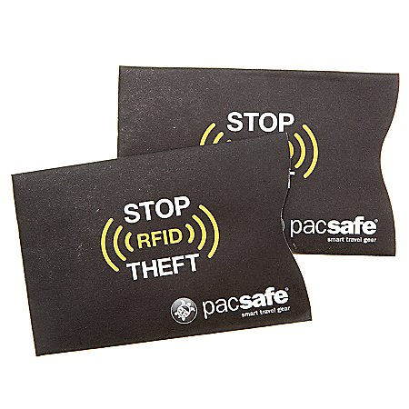 Pacsafe Travel Accessoires RFIDsleeve 25 RFID-Kartenschutz 2er-Set