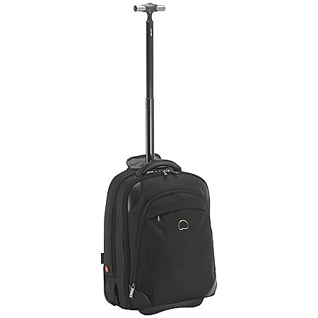Delsey Quarterback + Kabinentrolley-Rucksack mit Laptopfach 50 cm