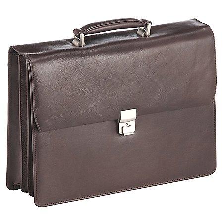 Dermata Business Aktenmappe 3-F�cher aus Leder 41 cm