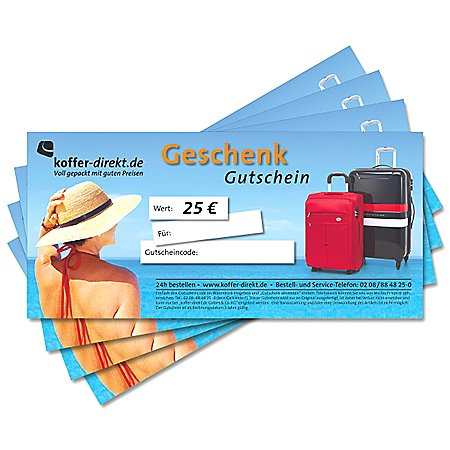 koffer-direkt.de Geschenkgutschein 25,00 €
