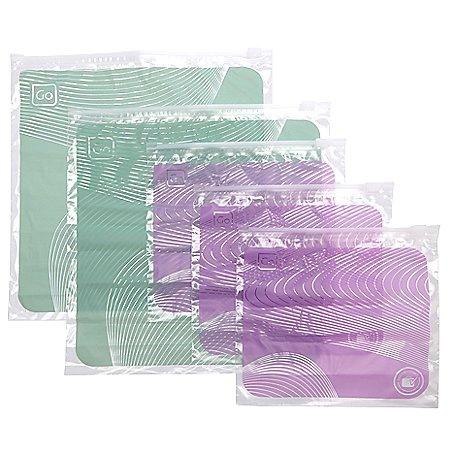 Design Go Reisezubehör luftdichtes Zip-Taschen Set