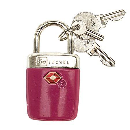 Design Go Reisezubehör Travel Sentry Alert TSA Vorhängeschloss mit Schlüssel