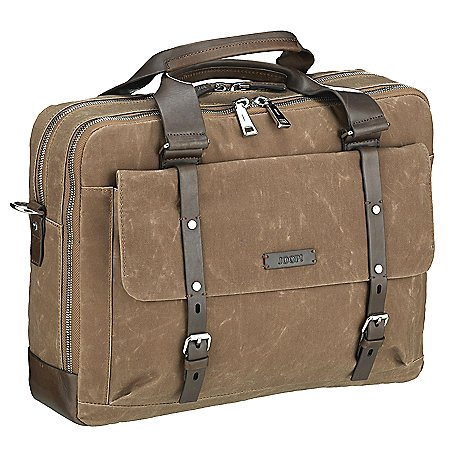 Joop Waxed Canvas Pandion Aktentasche mit Laptopfach 40 cm