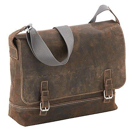 Bugatti Kensington Messenger Bag aus Leder 40 cm