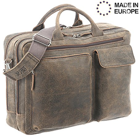 Jost Woodstock Kurzgrifftasche mit Laptopfach 45 cm