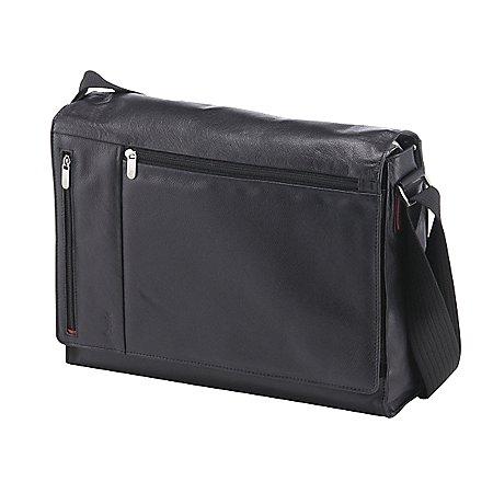 Esquire Courier Messenger Bag mit Laptopfach aus Leder 40 cm