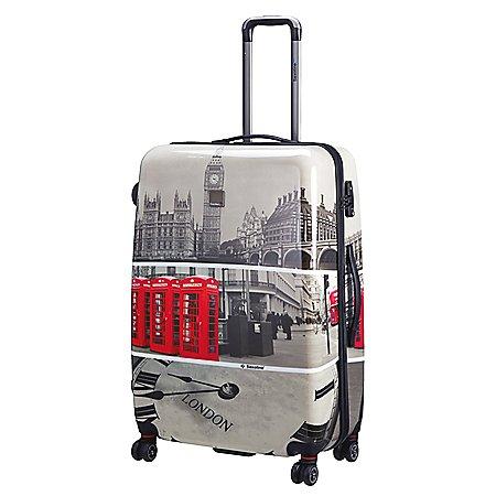Saxoline Blue London Tele 4-Rollen-Trolley 80 cm