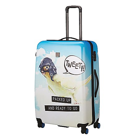 Saxoline Blue Tweet 4-Rollen-Trolley 80 cm