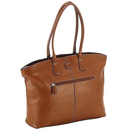 Brics Life Pelle Handtasche mit Laptopfach 39 cm
