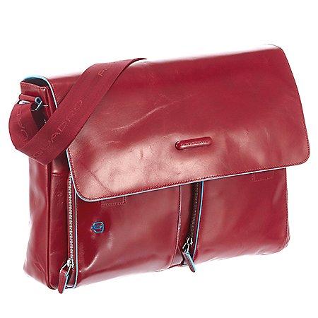 Piquadro Blue Square Messenger Bag mit Laptopfach 37 cm