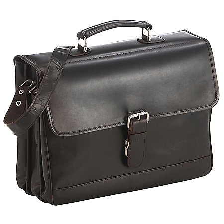 koffer-direkt.de Luxury Laptop-Aktenmappe 3-Fächer 41 cm