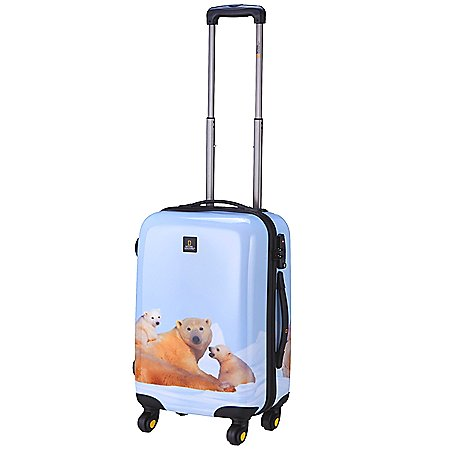 National Geographic Nature of Love Polar Bear 4-Rollen-Trolley 55 cm