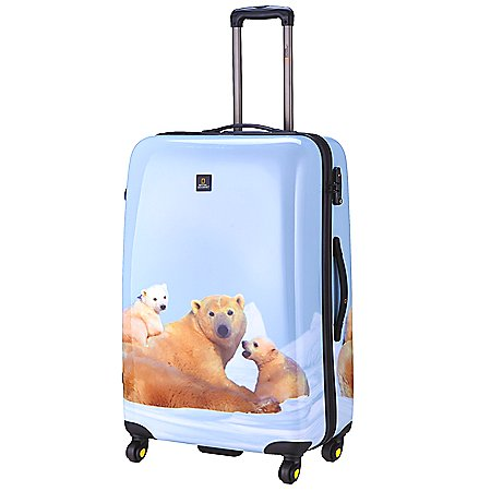 National Geographic Nature of Love Polar Bear 4-Rollen-Trolley 69 cm
