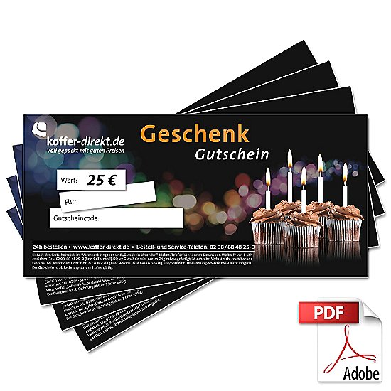 25,00€ Feier Gutschein als PDF