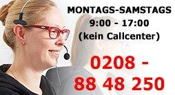 Hotline Zeiten Mo-Sa