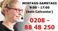 Hotline: 0208 - 8848250 (Mo-Sa: 9-17 Uhr)