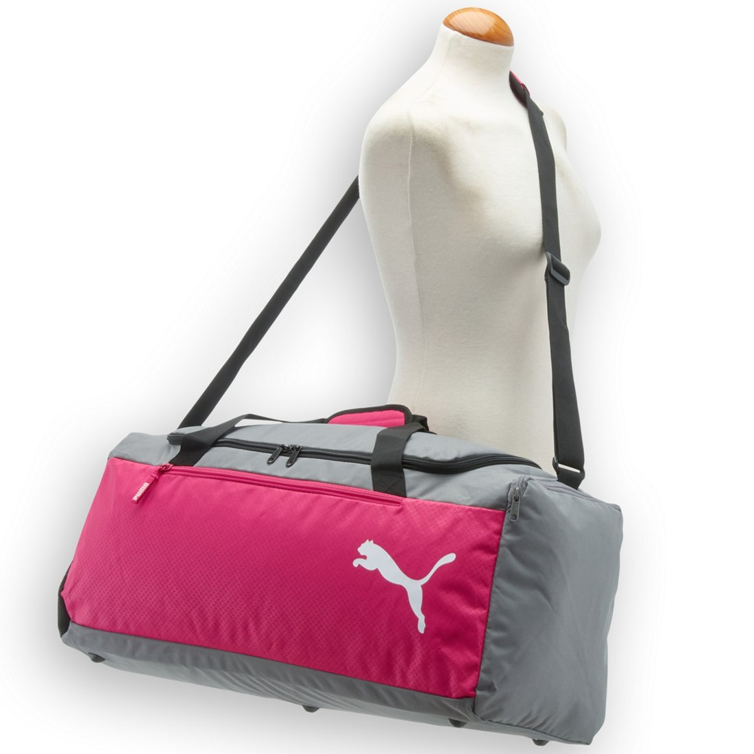 fb058a58664ff Puma Fundamentals Sports Bag M Sporttasche 60 cm - beetroot purple-steel  gray. Previous
