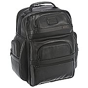 Tumi Alpha Business Leather T-Pass Rucksack mit Laptopfach 42 cm