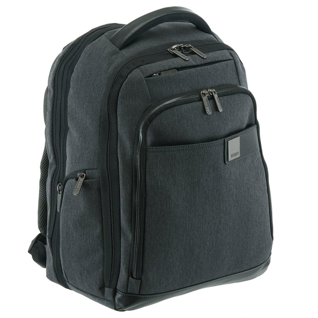 TITAN Power Pack Laptop Bag Umhängetasche Aktentasche Mixed Grey Grau Schwarz