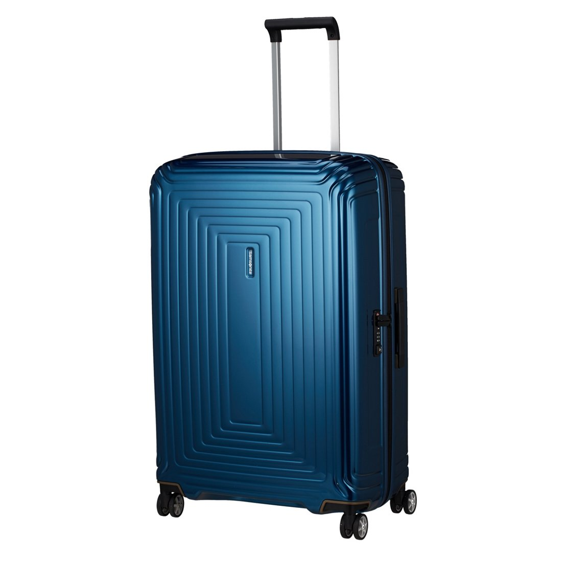 samsonite neopulse 4-rollen-trolley 75 cm - metallic blue - koffer