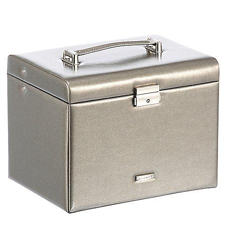 Windrose Metallic Schmuckkoffer mit 5 Etagen 26 cm