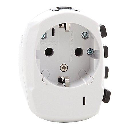 Design Go Reisezubeh�r Worldwide Earthed Euro Reiseadapter