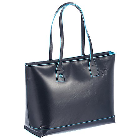 Piquadro Blue Square Shopping Bag 35 cm