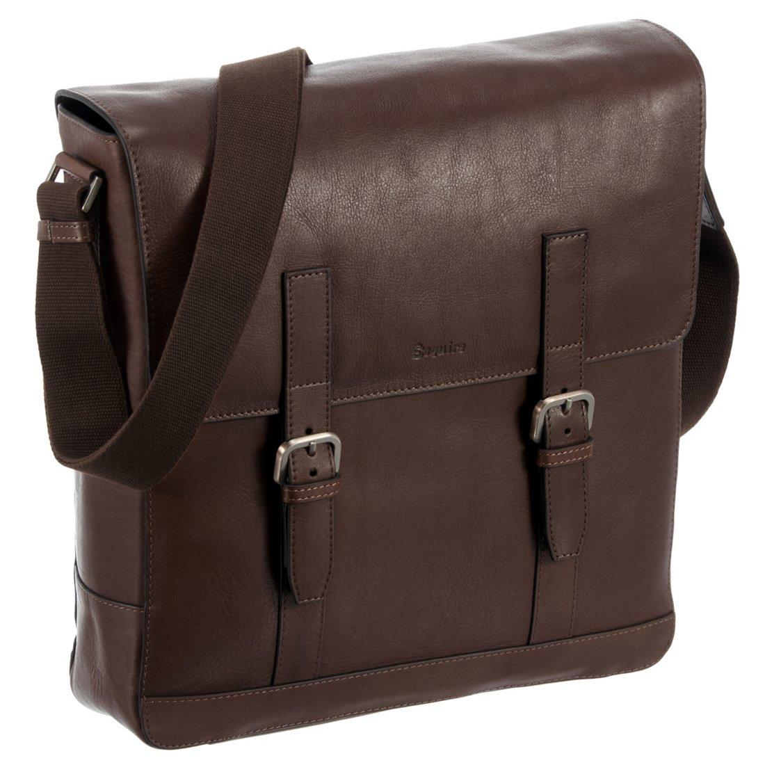 2020 außergewöhnliche Auswahl an Stilen begehrte Auswahl an Esquire Vienna Bags Umhängetasche mit Laptopfach 30 cm - mocca