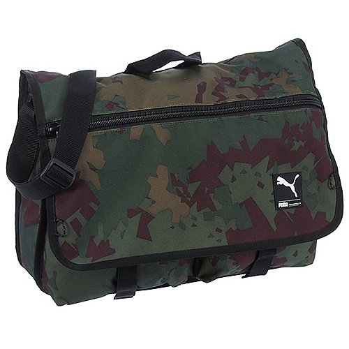 Puma Foundation Shoulder Bag Umhängetasche 41 cm dark olive camo