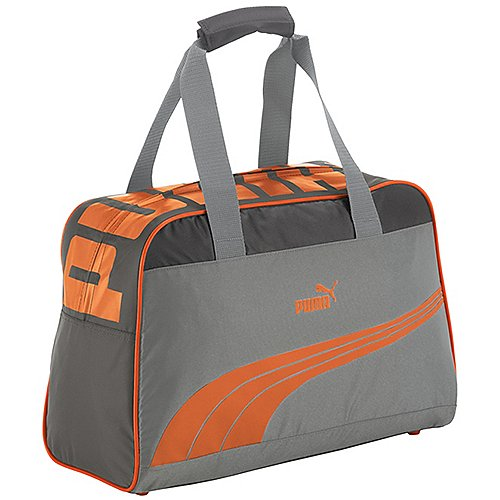 Puma Sole Grip Bag Umhängetasche 44 cm quarry steel gray golden poppy