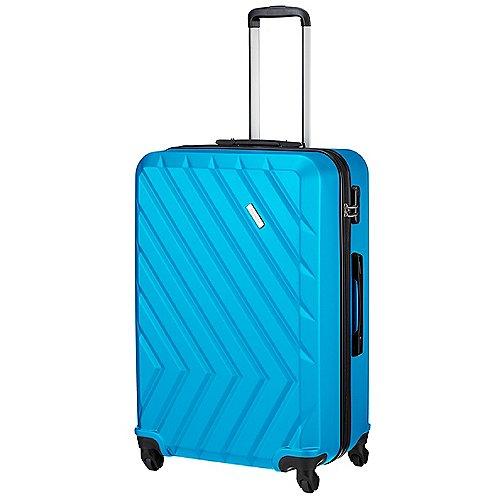 Travelite Quick 4 Rollen Trolley 74 cm - blau bei Koffer-Direkt.de