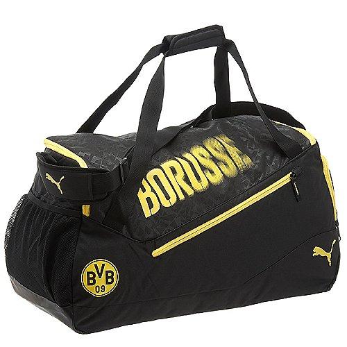 Puma BVB evoSpeed Medium Bag Sporttasche 63 cm black cyber yellow
