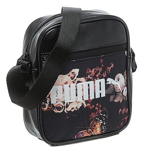 Puma Campus Portable Umhängetasche 21 cm black flower graphic