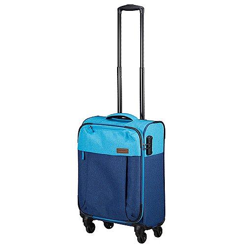 Travelite Neopak 4-Rollen-Kabinentrolley 55 cm - marine-blau