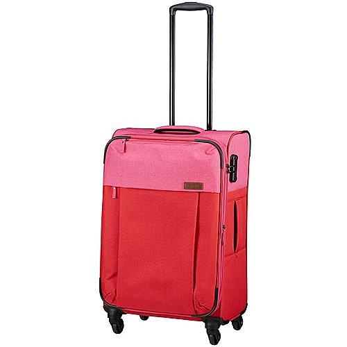 Travelite Neopak 4-Rollen Trolley 67 cm - rot-pink