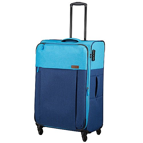 Travelite Neopak 4-Rollen-Trolley 77 cm - marine-blau