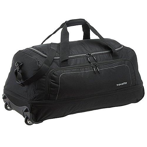 Travelite Basics Reisetasche auf Rollen 78 cm schwarz silber