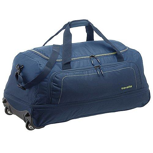 Travelite Basics Reisetasche auf Rollen 78 cm marine limone