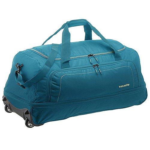 Travelite Basics Reisetasche auf Rollen 78 cm petrol limone auf Rechnung bestellen