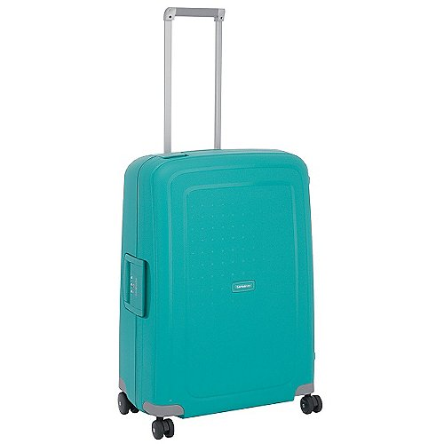 Samsonite S Cure Spinner 4-Rollen-Hartschalentrolley 69 cm - aqua blue