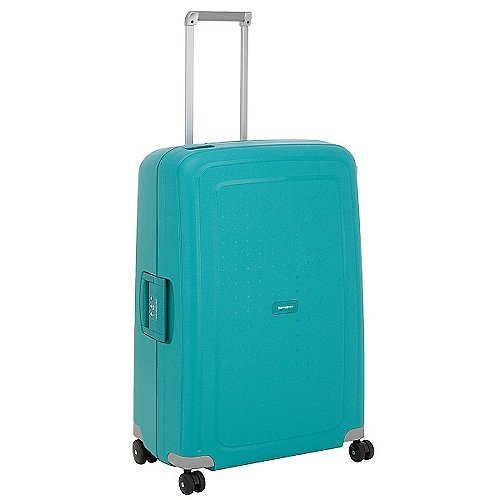 Samsonite S Cure Spinner 4-Rollen-Hartschalentrolley 75 cm - aqua blue