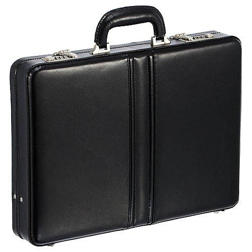 Dermata Business Aktenkoffer aus Leder 43 cm - schwarz Preisvergleich
