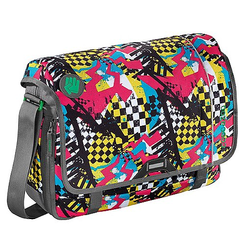 Coocazoo City and School Hangdang Schultertasche mit Laptopfach 44 cm checkered bolts